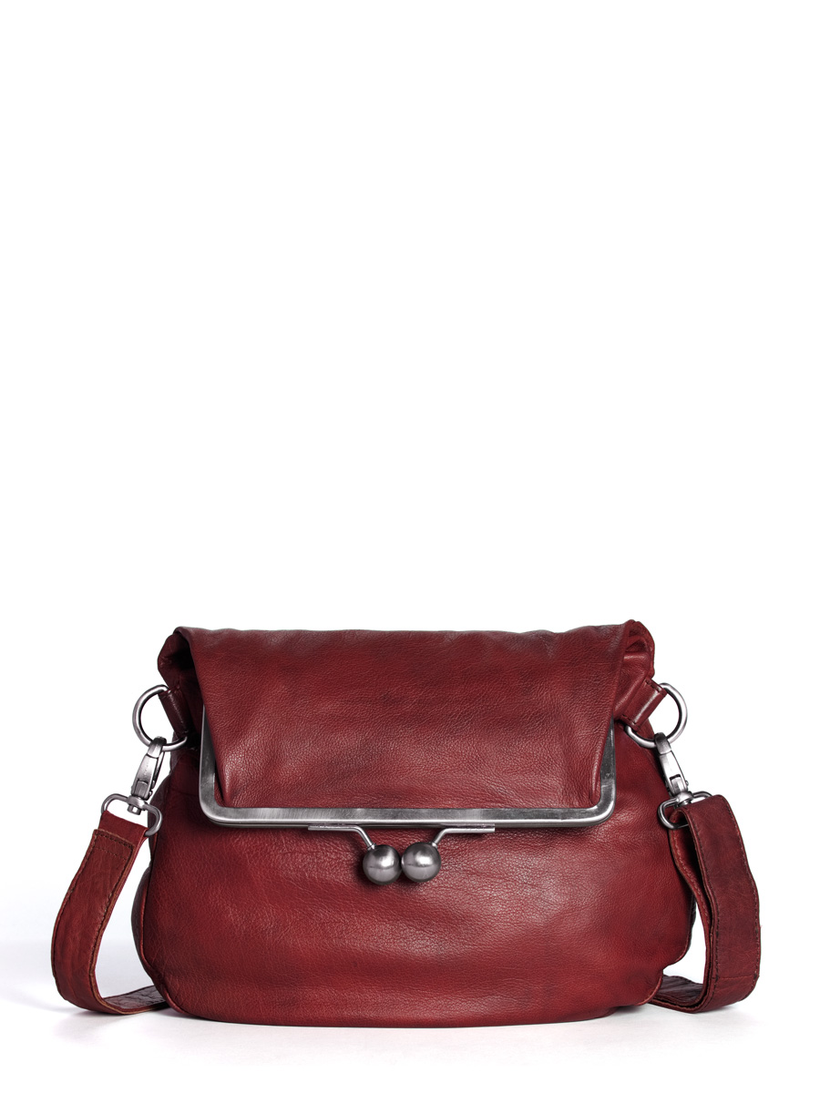 Cannes Bag - Buff Washed - Cherry Red