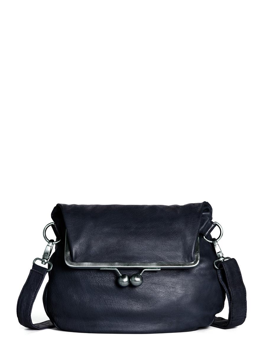 Cannes Bag - Buff Washed - Dark Blue