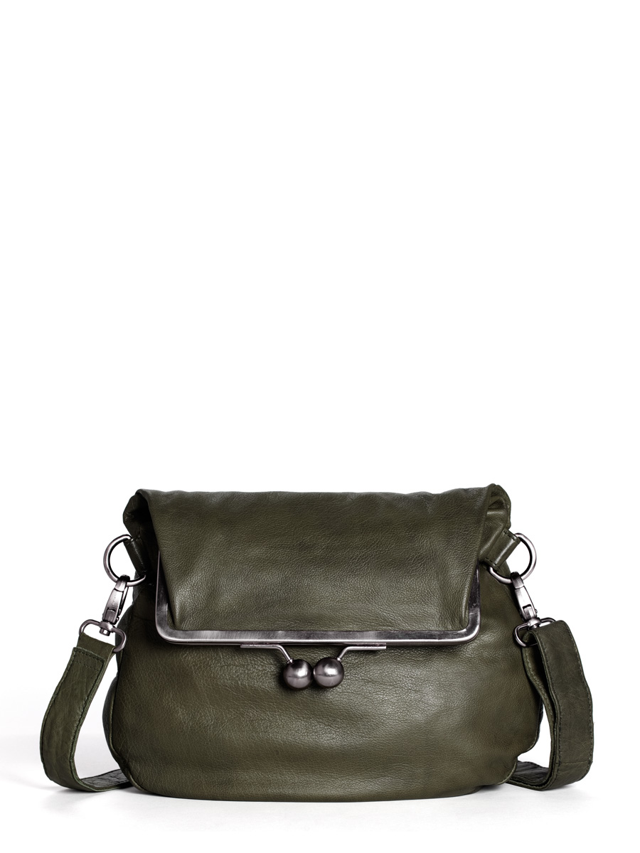 Cannes Bag - Buff Washed - Ivy Green