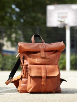 Messenger Backpack - Vegetable Tanned Eco-Leather