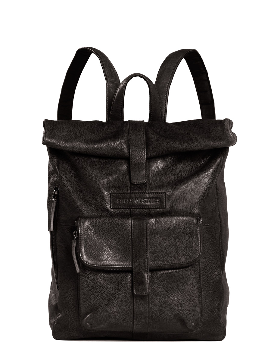 Messenger Backpack - Vegetable Tanned - Black