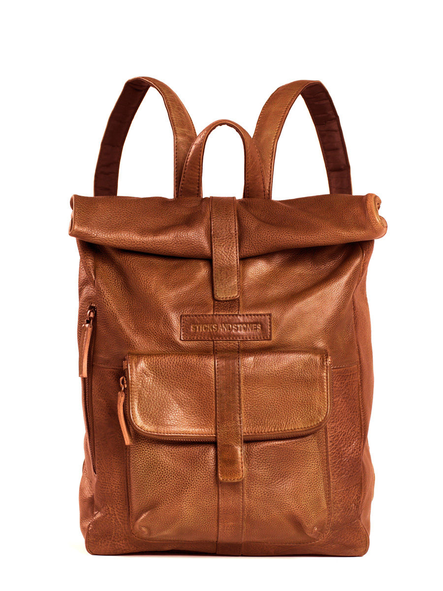 Messenger Backpack - Vegetable Tanned - Cognac