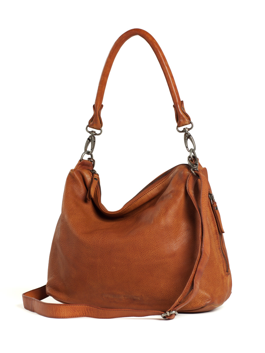 Marbella Bag - Cognac - with long shoulder strap