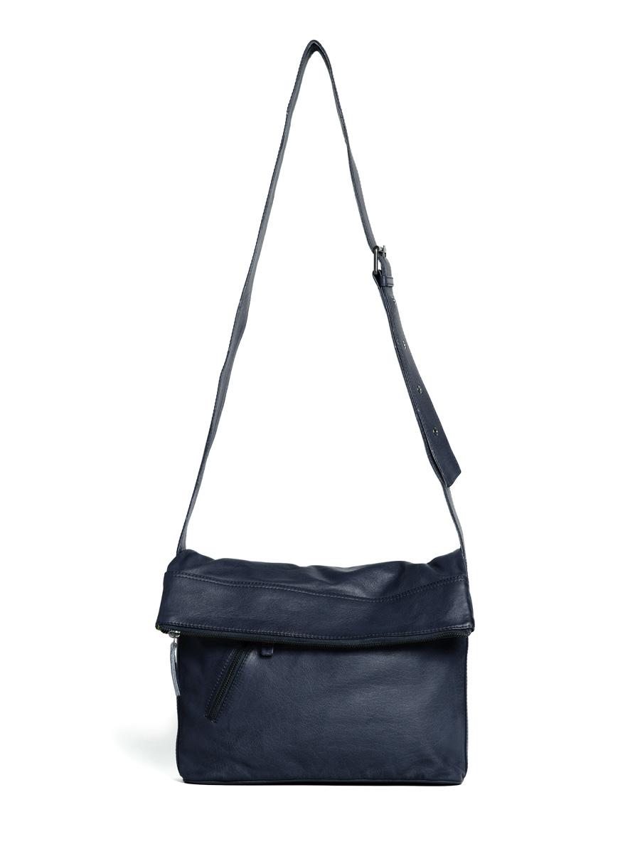 City Bag - Buff Washed - Dark Blue