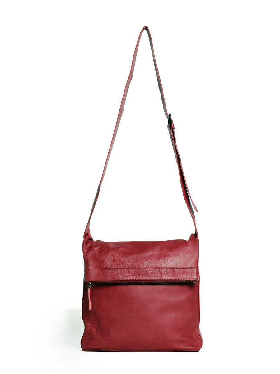 Flap Bag - Cherry Red