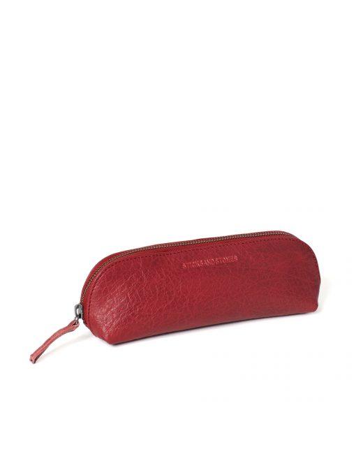 Kyoto Pencil Case - Cherry Red