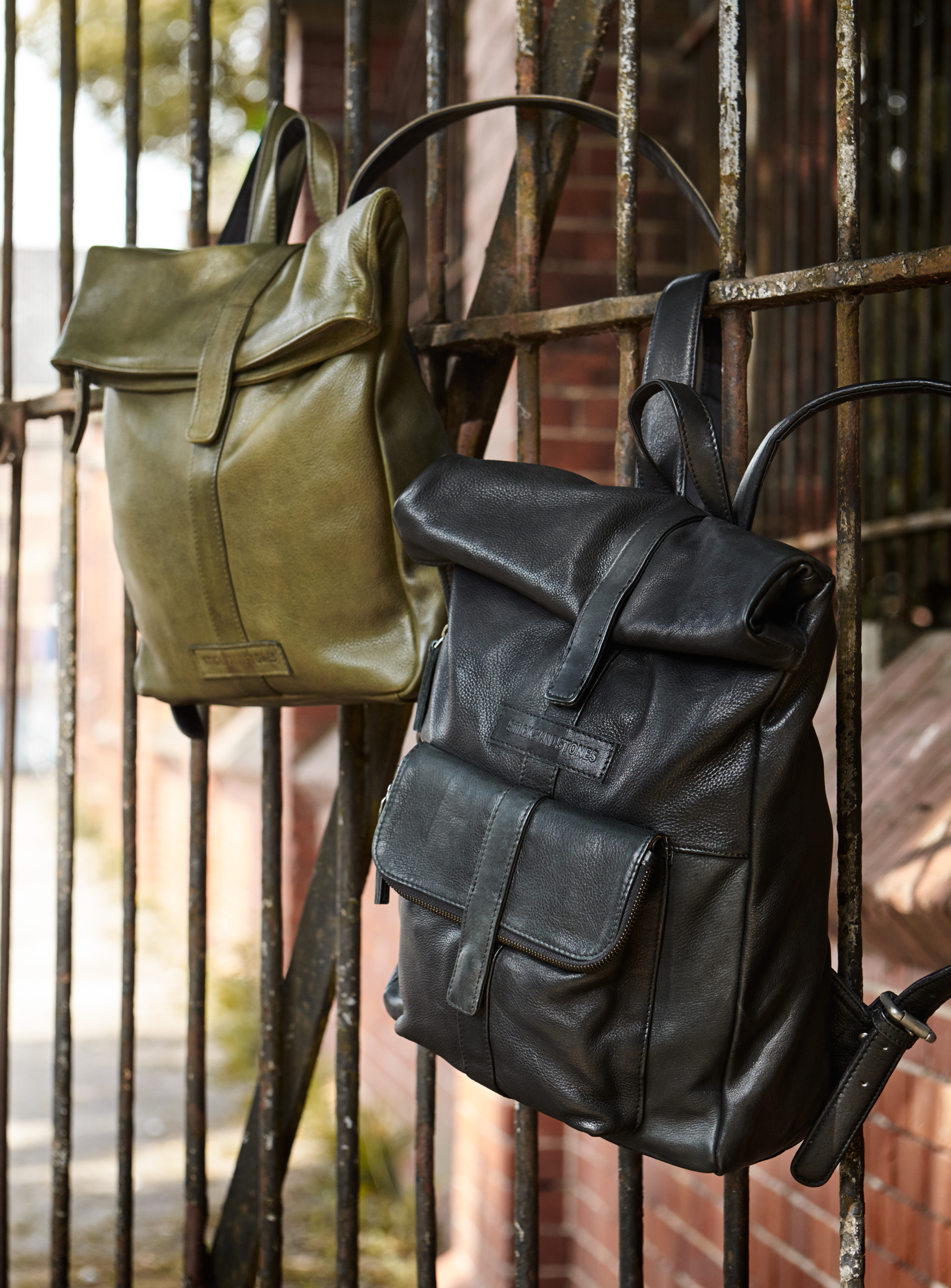 Courier Backpack and Messenger Backpack - Vegetable Tanned Eco-Leather