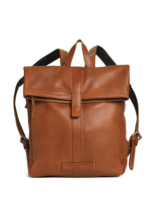 Courier Backpack - Cognac